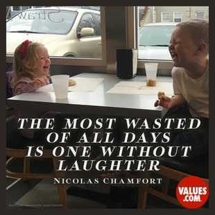 The most wasted of all days is one without laughter. #<Author:0x00007f44f54617e8>