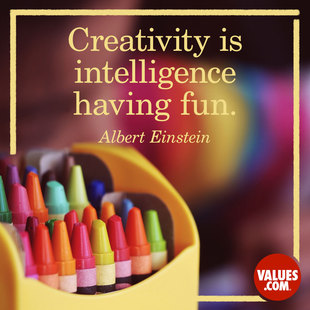 Creativity is intelligence having fun. #<Author:0x00005561fe582c48>