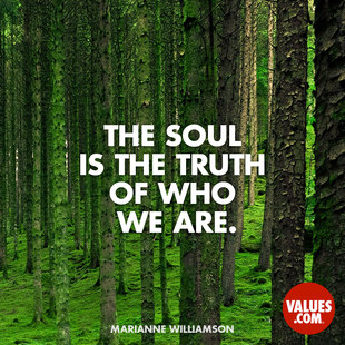 The soul is the truth of who we are. #<Author:0x00007f14f27d17d0>