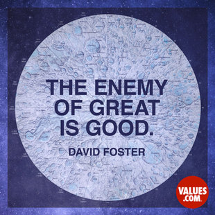 The enemy of great is good. #<Author:0x00007f7244d10e58>
