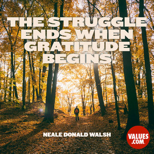 The struggle ends when gratitude begins. #<Author:0x00007faccac654e8>