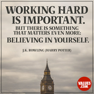 Working hard is important. But there is something that matters even more: believing in yourself. #<Author:0x00005602f08047d0>