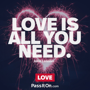 All you need is love. #<Author:0x0000555918617558>