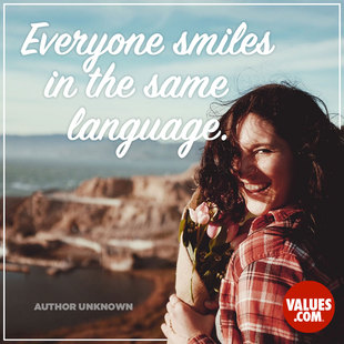 Everyone smiles in the same language. #<Author:0x00007ffb76ed9508>