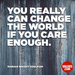 You really can change the world if you care enough. #<Author:0x00007f2f089b95e0>