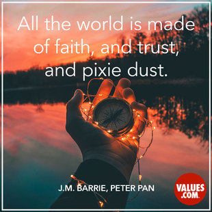 All the world is made of faith, and trust, and pixie dust. #<Author:0x00007fb168e701c8>
