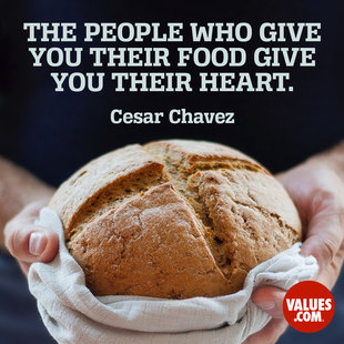 The people who give you their food give you their heart. #<Author:0x00007f2f734b38a0>
