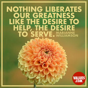 Nothing liberates our greatness like the desire to help, the desire to serve. #<Author:0x00007f14f2c430e8>