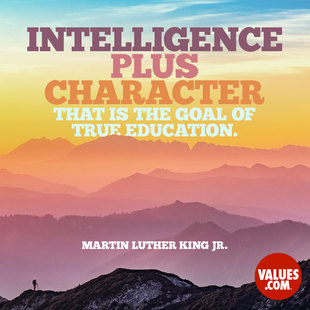 Intelligence plus character-that is the goal of true education. #<Author:0x00005587576f7a50>