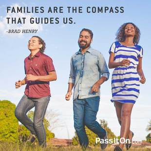 Families are the compass that guides us. #<Author:0x0000564f160b77a8>