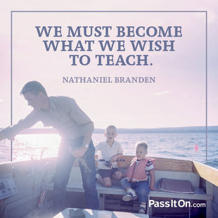 We must become what we wish to teach. #<Author:0x00007f613ce7bb80>
