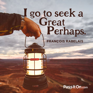 I go to seek a Great Perhaps. #<Author:0x00007fbeec384de0>
