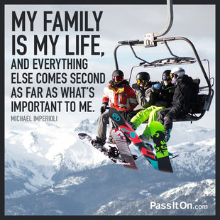 My family is my life, and everything else comes second as far as what's important to me. #<Author:0x00007facc937b4f0>
