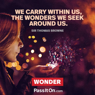 We carry within us, the wonders we seek around us. #<Author:0x00007f150a0c2cd8>