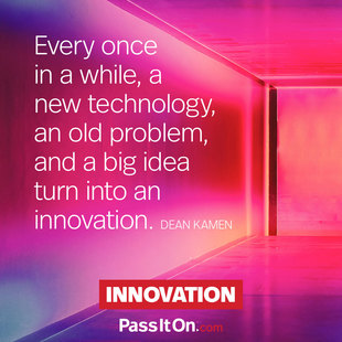 Every once in a while, a new technology, an old problem, and a big idea turn into an innovation. #<Author:0x00007fc4089d1f10>