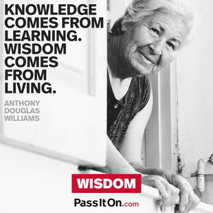 Knowledge comes from learning. Wisdom comes from living. #<Author:0x000055e354cb20e0>