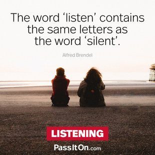 The word 'listen' contains the same letters as the word 'silent'. #<Author:0x00007f69ae64f900>
