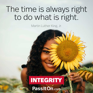 The time is always right to do what is right. #<Author:0x00007f69ae15b840>