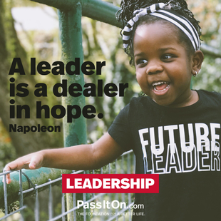 A leader is a dealer in hope. #<Author:0x00007f0fbcc98c68>