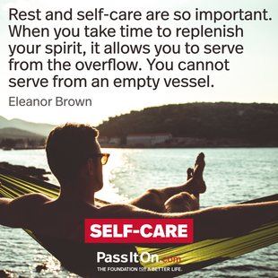 Rest and self-care are so important. When you take time to replenish your spirit, it allows you to serve from the overflow. You cannot serve from an empty vessel. #<Author:0x00007f0950872048>