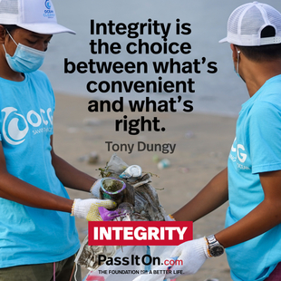 Integrity is the choice between what's convenient and what's right. #<Author:0x0000563078483d08>
